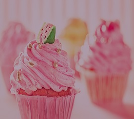 strwberry flavoured cupcake